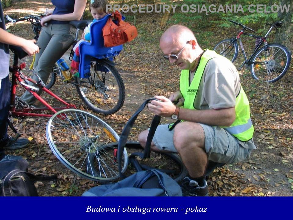 Budowa i obsługa roweru - pokaz PROCEDURY OSIĄGANIA CELÓW
