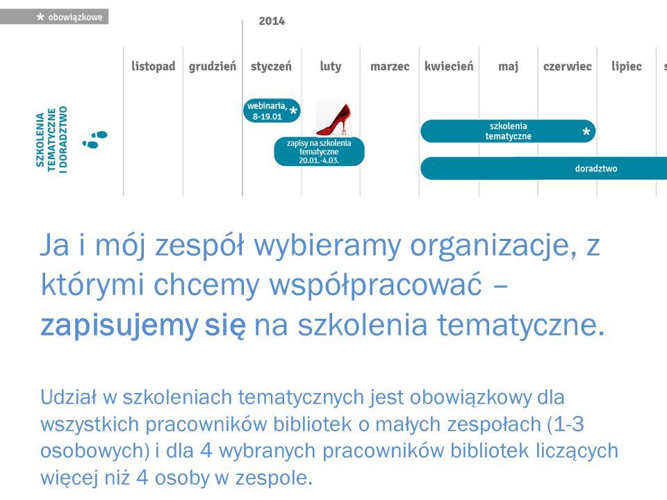 Ja i mój zespół wybieramy organizacje, z którymi chcemy współpracować – zapisujemy się na szkolenia tematyczne.
