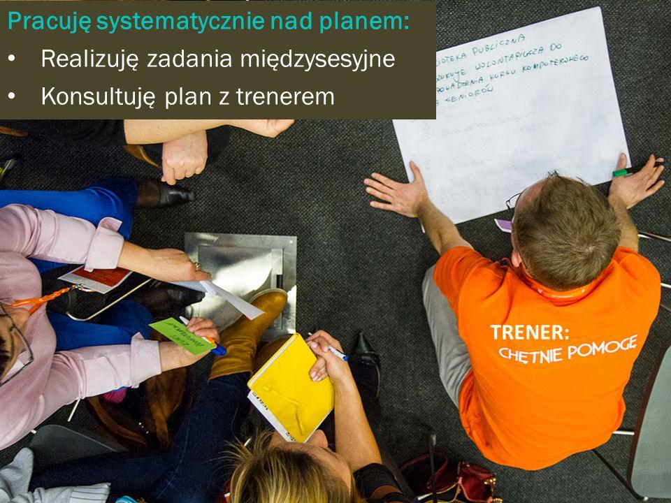 TRENER: Pracuję systematycznie nad planem: Realizuję zadania międzysesyjne Konsultuję plan z trenerem