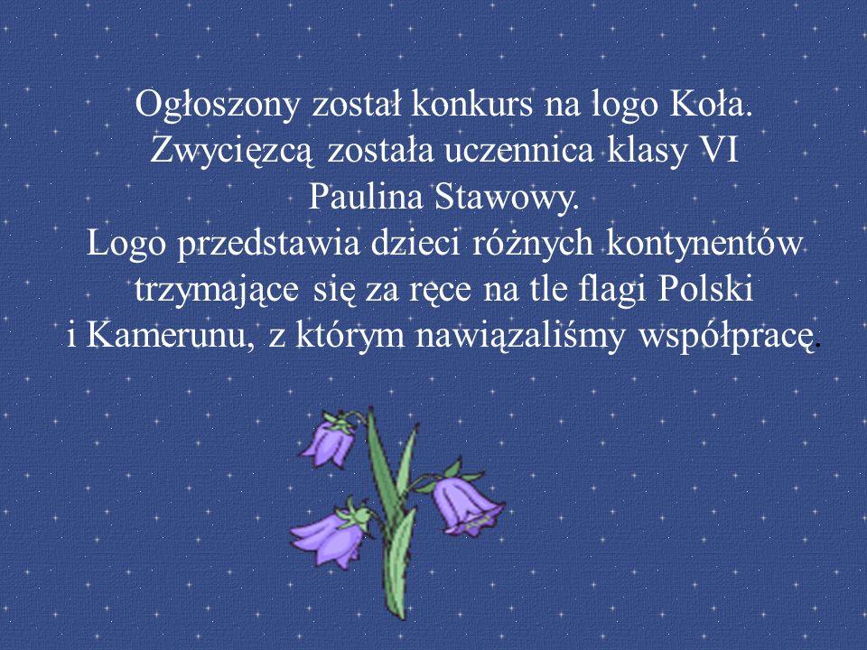 Ogłoszony został konkurs na logo Koła. Zwycięzcą została uczennica klasy VI Paulina Stawowy. Logo przedstawia dzieci różnych kontynentów trzymające si