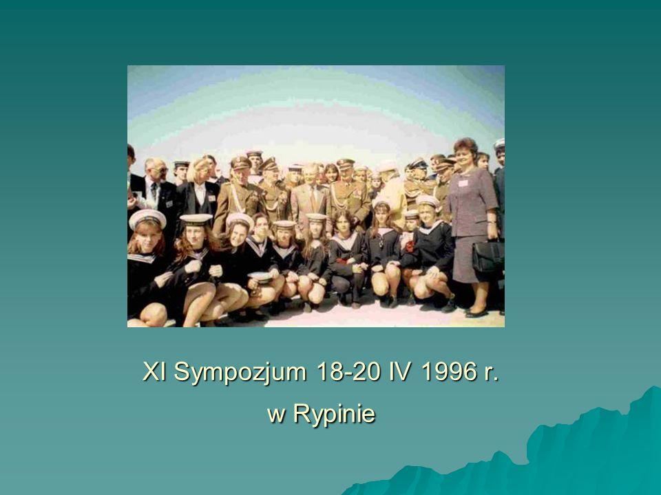 XI Sympozjum 18-20 IV 1996 r. w Rypinie