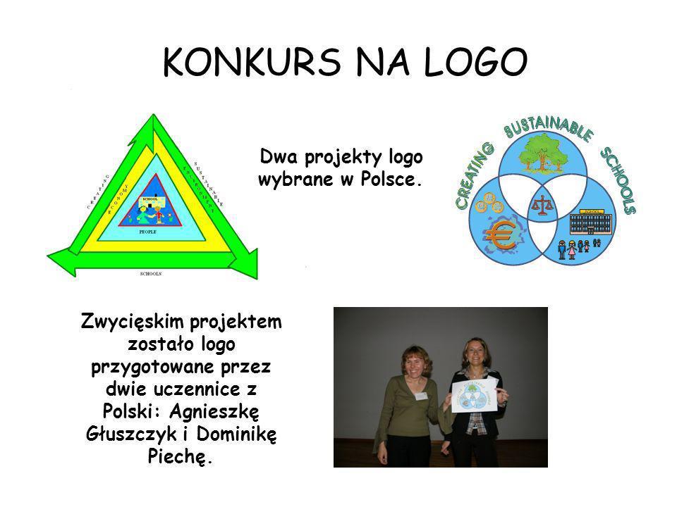 KONKURS NA LOGO Dwa projekty logo wybrane w Polsce. Zwycięskim projektem zostało logo przygotowane przez dwie uczennice z Polski: Agnieszkę Głuszczyk