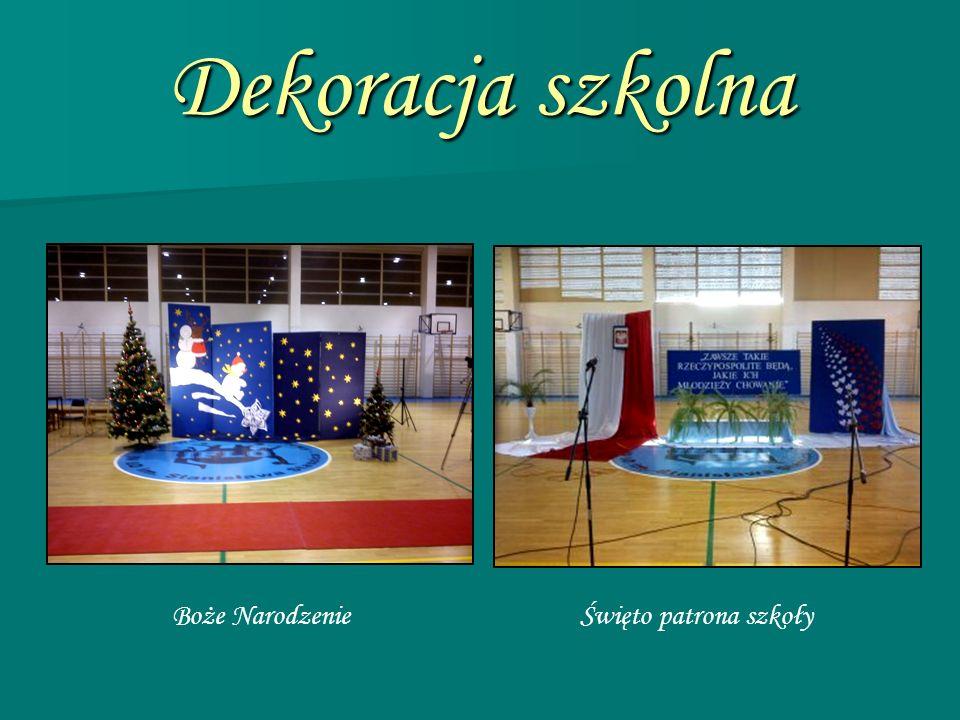 Dekoracja szkolna Boże NarodzenieŚwięto patrona szkoły