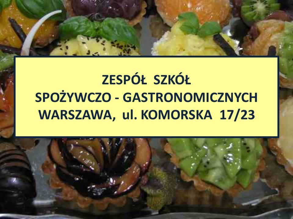 Od roku szkolnego 2012/2013 TECHNIKUM SPOŻYWCZO – GASTRONOMICZNE im.