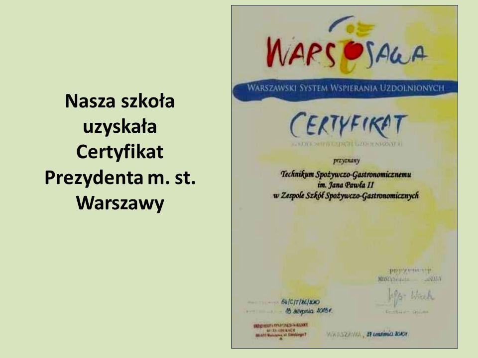 Uzyskaliśmy Certyfikat Bezpiecznej Szkoły