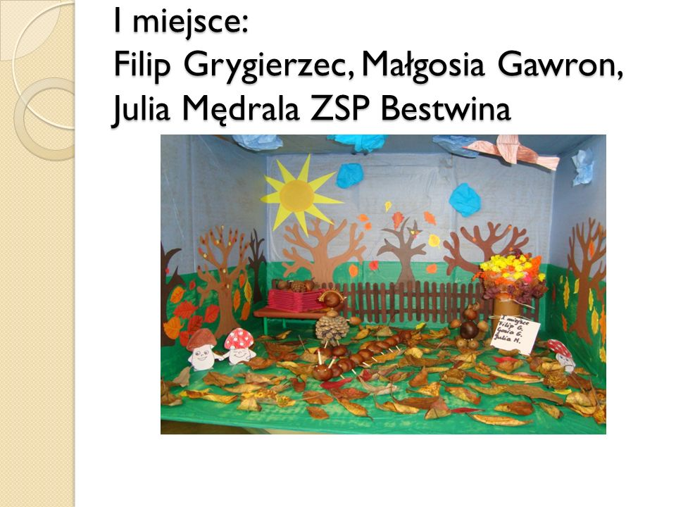 I miejsce: Filip Grygierzec, Małgosia Gawron, Julia Mędrala ZSP Bestwina