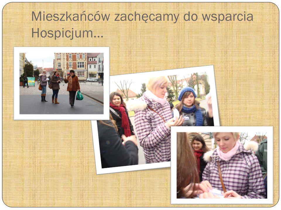 Akcja na ulicach Człuchowa- rozdajemy ulotki, informujemy, zachęcamy do wsparcia człuchowskiego hospicjum…
