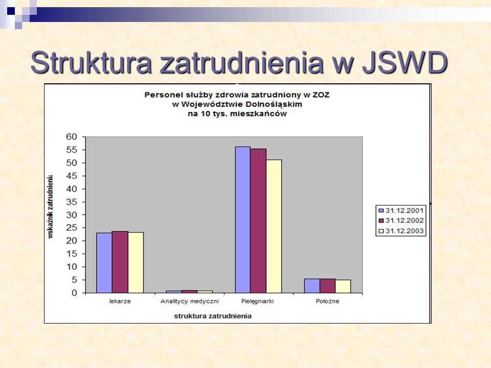 Struktura zatrudnienia w JSWD