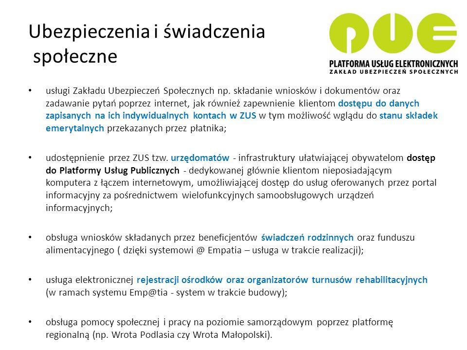 E-urzędy ePUAP - Elektroniczna Platforma Usług Administracji Publicznej - obywatele mogą załatwiać sprawy urzędowe za pośrednictwem internetu (katalog usług), natomiast przedstawiciele podmiotów publicznych – bezpłatnie udostępniać swoje usług w postaci elektronicznej.