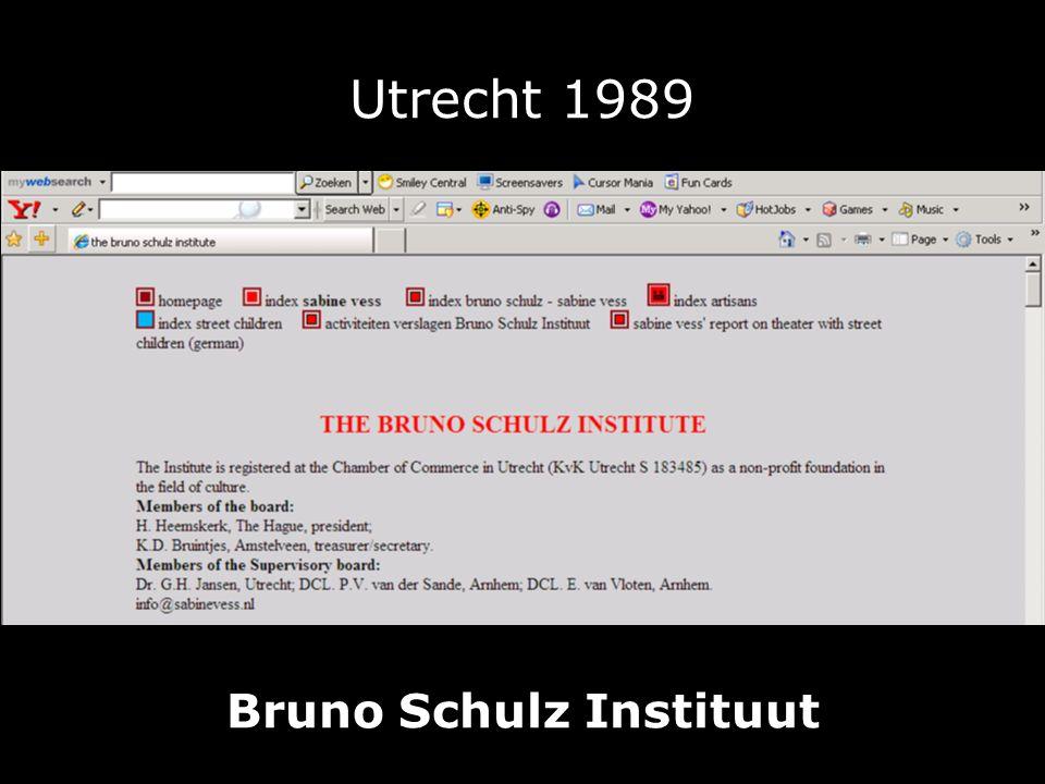 Utrecht 1989 Bruno Schulz Instituut