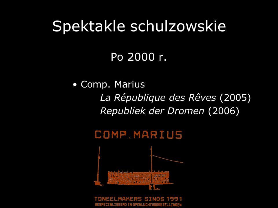 Spektakle schulzowskie Po 2000 r. Comp. Marius La République des Rêves (2005) Republiek der Dromen (2006)