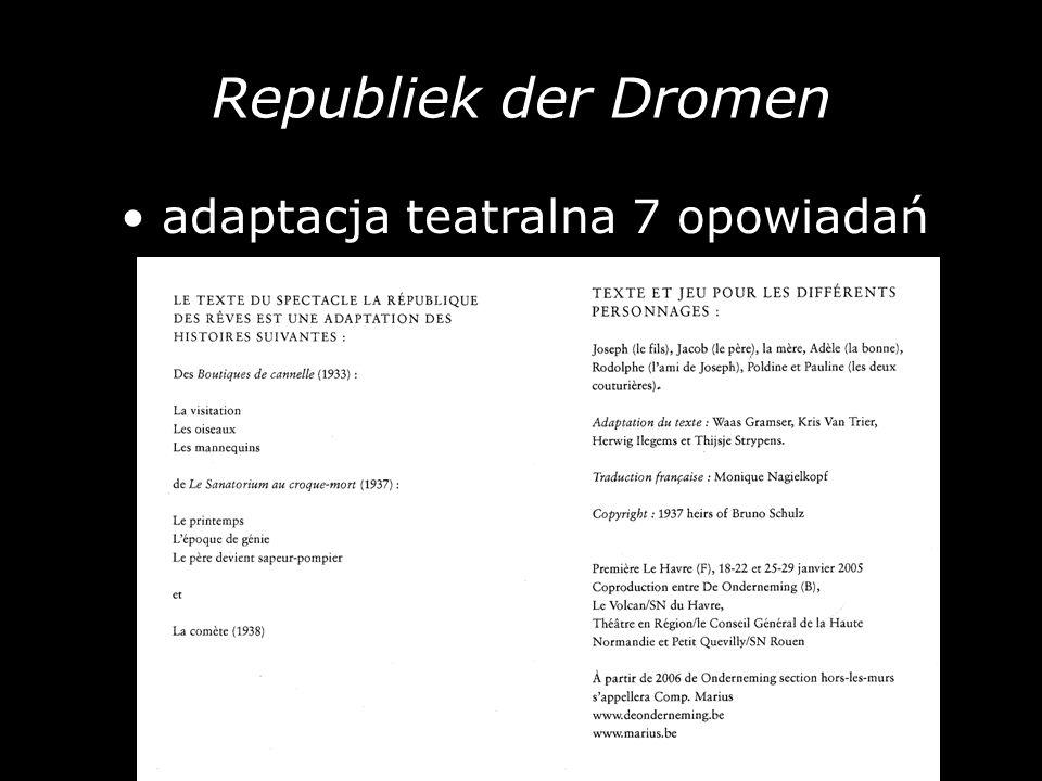 Republiek der Dromen adaptacja teatralna 7 opowiadań