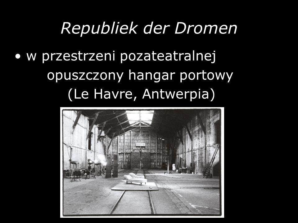 Republiek der Dromen w przestrzeni pozateatralnej opuszczony hangar portowy (Le Havre, Antwerpia)