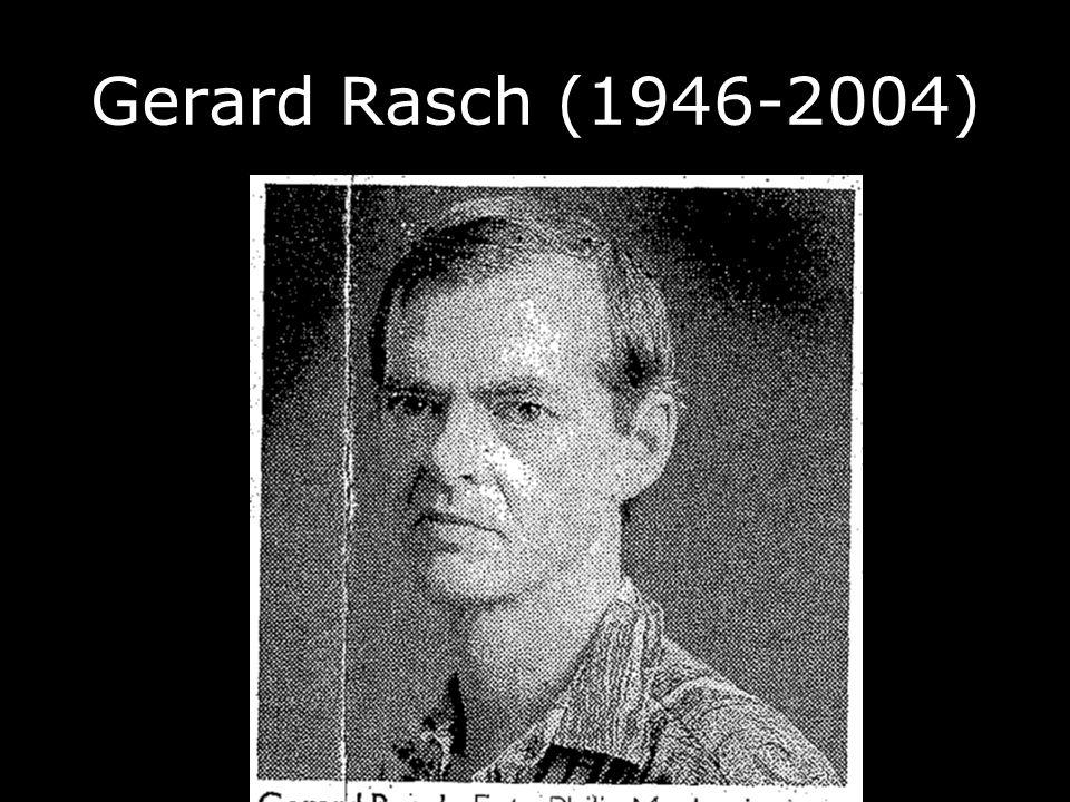 Gerard Rasch (1946-2004)