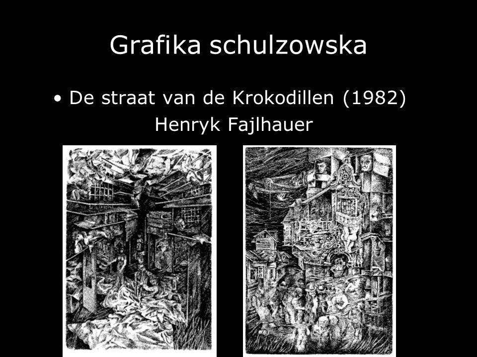Grafika schulzowska De straat van de Krokodillen (1982) Henryk Fajlhauer