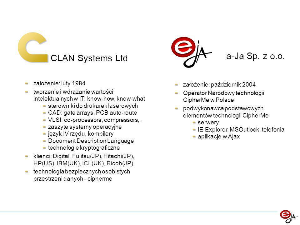 CLAN Systems Ltd a-Ja Sp.z o.o.