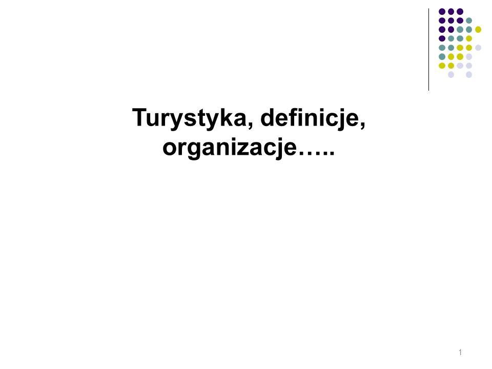 Turystyka, definicje, organizacje….. 1
