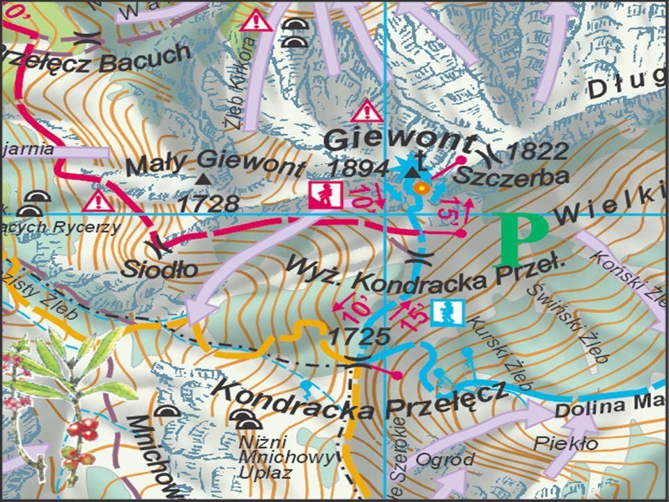 Na szczyt Wielkiego Giewontu dojść można trzema popularnymi szlakami turystycznymi: – niebieski z Kuźnic przez Kalatówki, Dolinę Kondratową, obok schr
