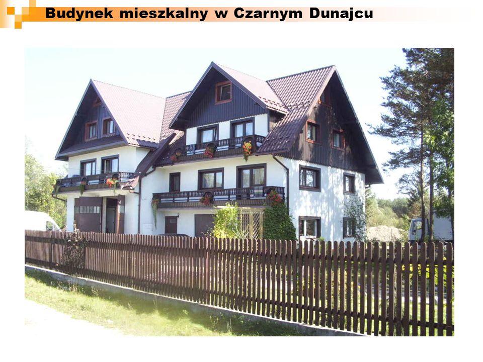 Budynek mieszkalny w Czarnym Dunajcu