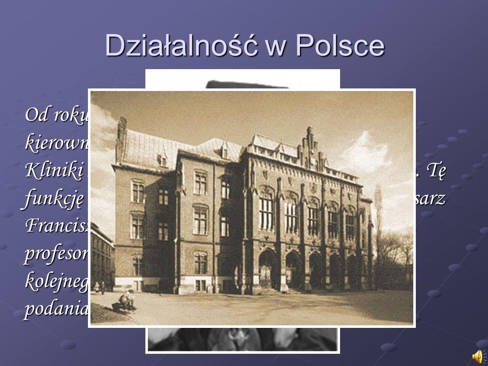 Od roku 1851 objął stanowisko profesora i kierownika Katedry Medycyny Wewnętrznej i Kliniki Lekarskiej Uniwersytetu Jagiellońskiego.