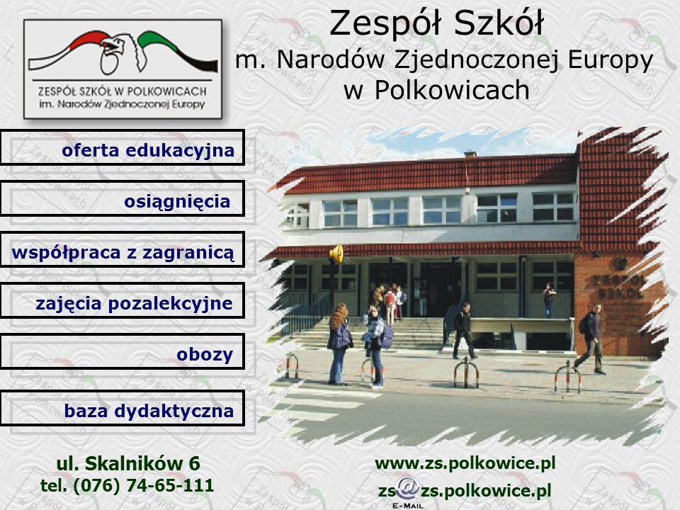 Zespół Szkół im.Narodów Zjednoczonej Europy w Polkowicach tel.