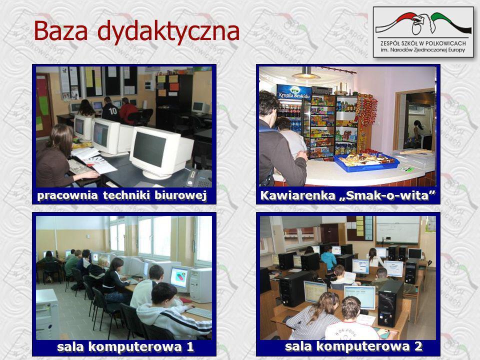 Kawiarenka Smak-o-wita pracownia techniki biurowej Baza dydaktyczna sala komputerowa 1 sala komputerowa 2