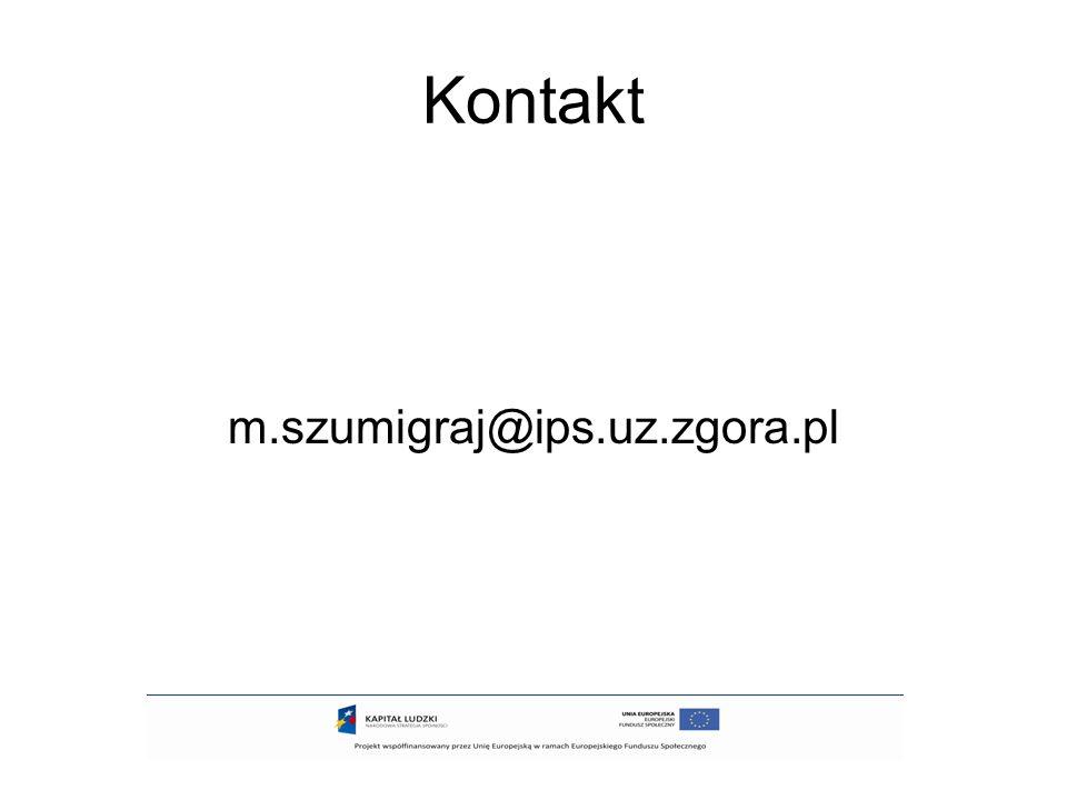 Kontakt m.szumigraj@ips.uz.zgora.pl