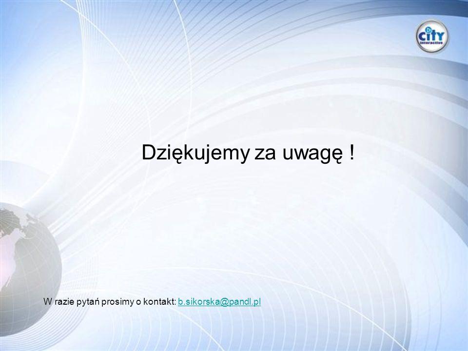 Dziękujemy za uwagę ! W razie pytań prosimy o kontakt: b.sikorska@pandl.plb.sikorska@pandl.pl