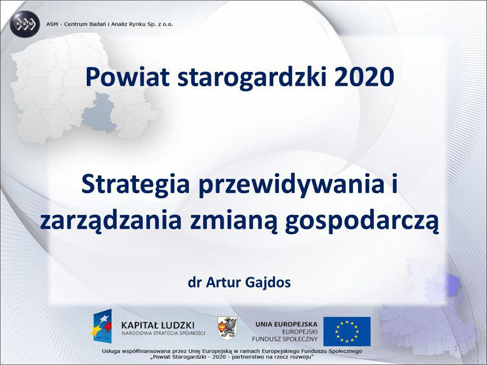 Powiat starogardzki 2020 Strategia przewidywania i zarządzania zmianą gospodarczą dr Artur Gajdos 1