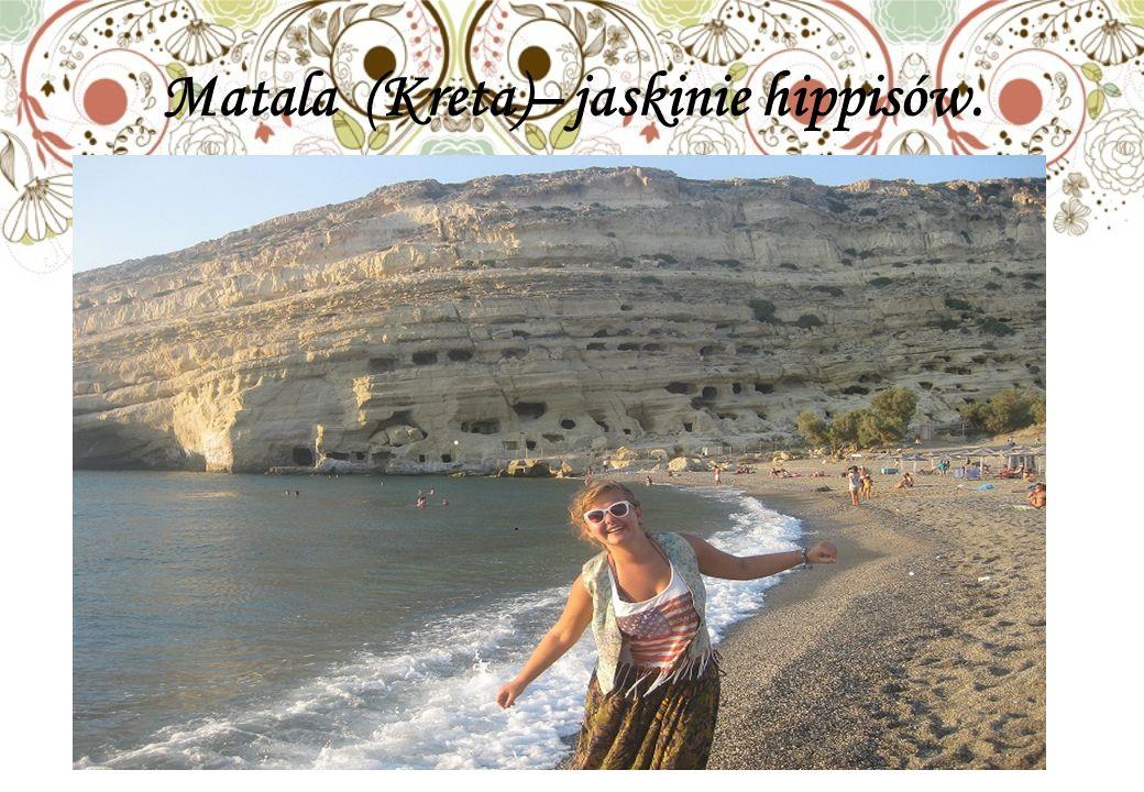 Matala (Kreta)– jaskinie hippisów.