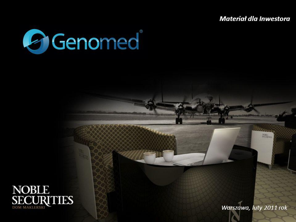 Profil Spółki - Oferta handlowa 12 Synteza DNA Polega na syntezie chemicznej pożądanego fragmentu łańcucha DNA Zastosowanie w diagnostyce klinicznej, w badaniach nad genomem, klonowaniu genów, charakterystyce ekspresji genów, identyfikacji osób zaginionych, kryminalistyce.