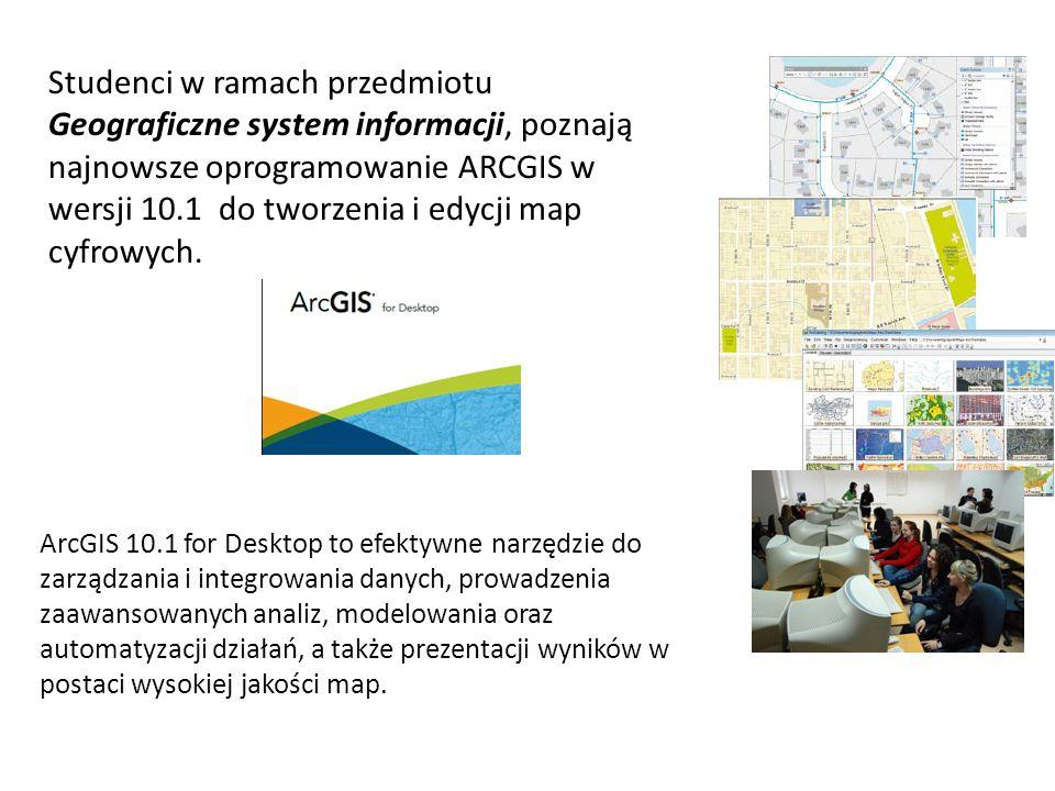 ArcGIS 10.1 for Desktop to efektywne narzędzie do zarządzania i integrowania danych, prowadzenia zaawansowanych analiz, modelowania oraz automatyzacji