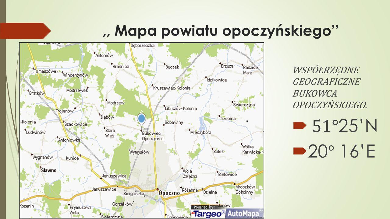 ,, Mapa powiatu opoczyńskiego