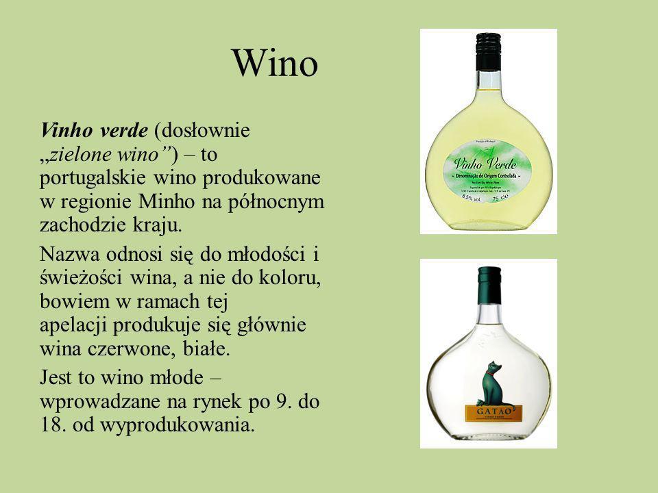 Wino Vinho verde (dosłowniezielone wino) – to portugalskie wino produkowane w regionie Minho na północnym zachodzie kraju. Nazwa odnosi się do młodośc