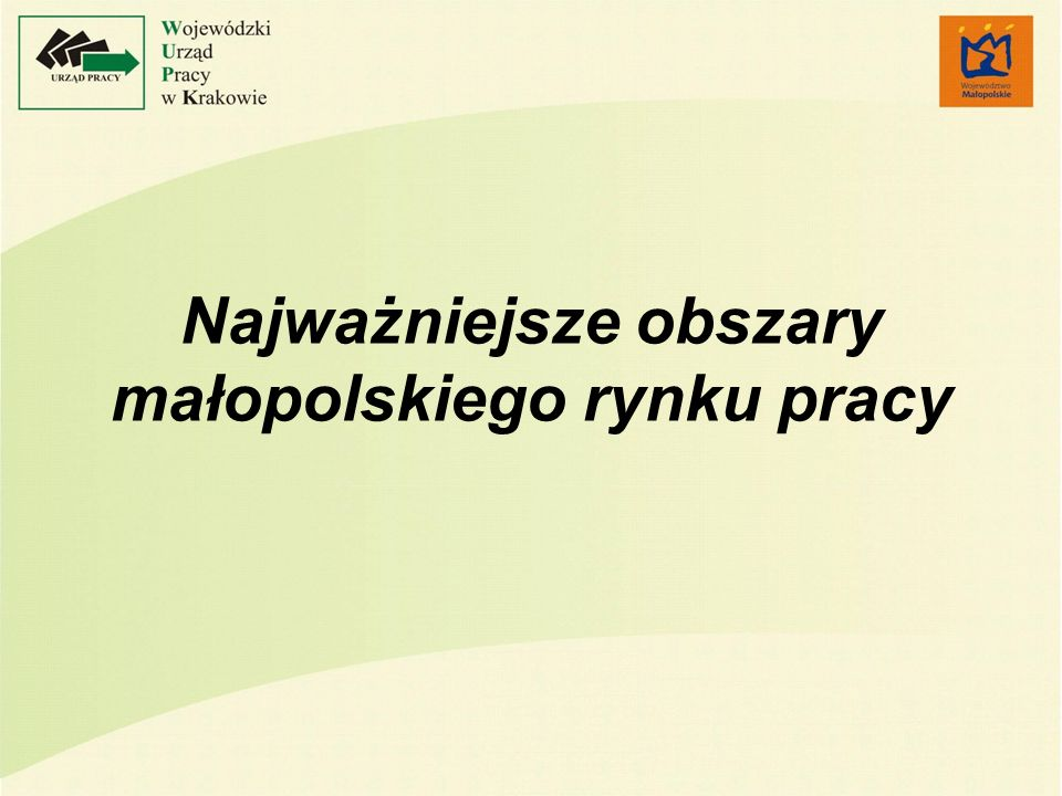 Najważniejsze obszary małopolskiego rynku pracy