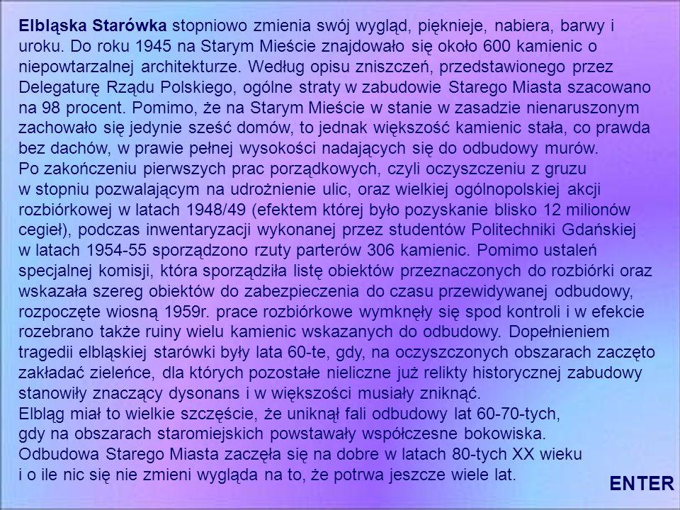 Elbląg – Historia.Początki miasta przypadają na rok 1237.