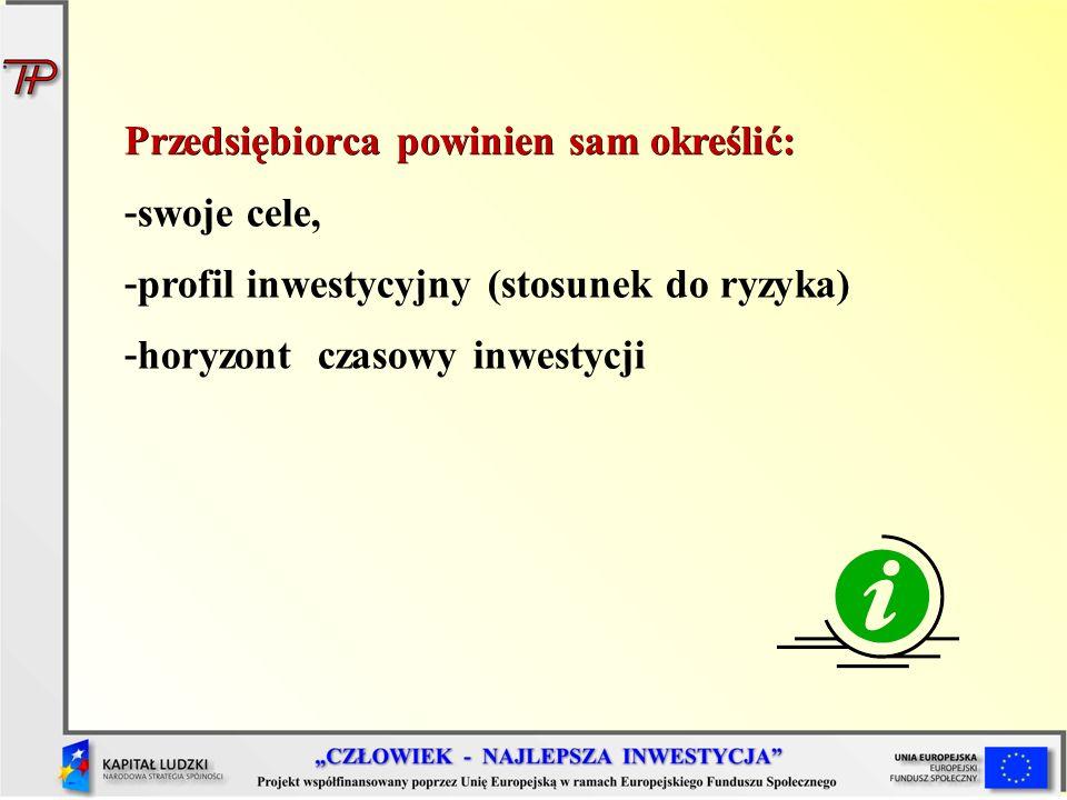 Rynki inwestycyjne Rynki, na których dokonuje się transakcji inwestycyjnych są klasyfikowane według następującego podziału: rynek finansowy, rynek pieniężny, rynek kapitałowy, rynek walutowy, rynek instrumentów pochodnych, rynek nieruchomości