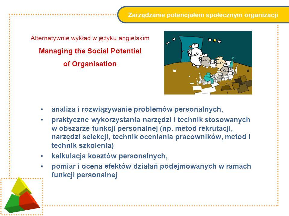 Systemy motywowania teoretyczne podstawy kształtowania motywacji w organizacjach gospodarczych umiejętność postrzegania wynagrodzeń jako integralnego elementu systemów motywowania nowoczesne instrumenty zarządzania płacami w przedsiębiorstwach diagnozowanie motywacji i doboru motywatorów nowoczesne instrumenty zarządzania płacami w przedsiębiorstwach