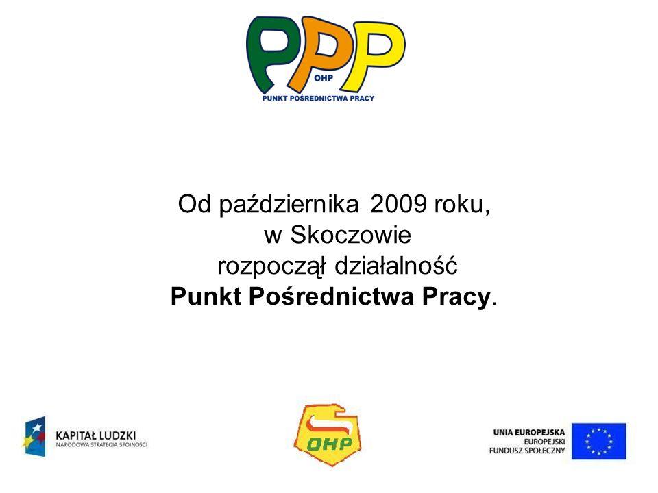 Od października 2009 roku, w Skoczowie rozpoczął działalność Punkt Pośrednictwa Pracy.
