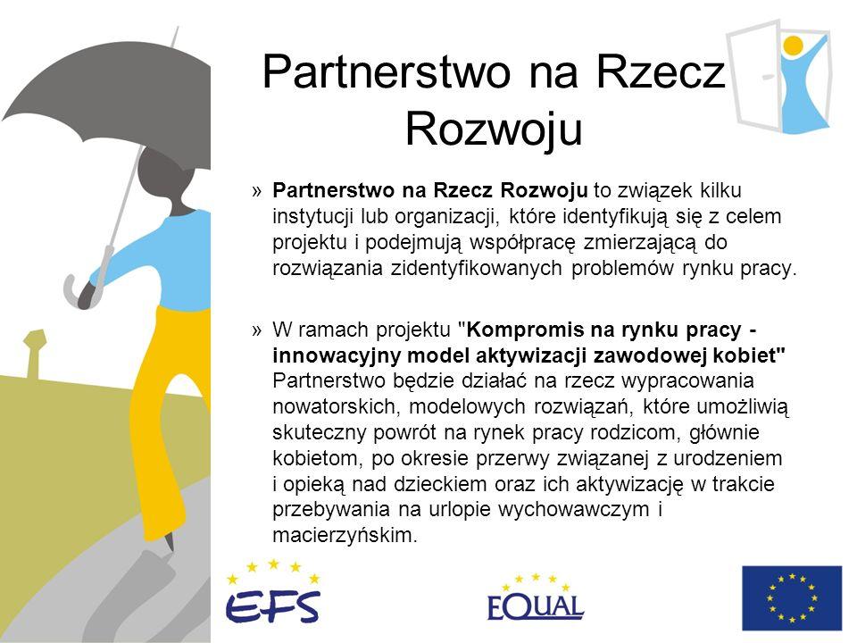 Partnerstwo na Rzecz Rozwoju »Partnerstwo na Rzecz Rozwoju to związek kilku instytucji lub organizacji, które identyfikują się z celem projektu i podejmują współpracę zmierzającą do rozwiązania zidentyfikowanych problemów rynku pracy.
