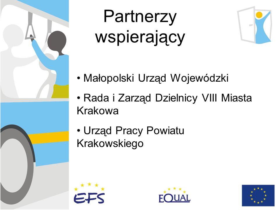 Partnerzy wspierający Małopolski Urząd Wojewódzki Rada i Zarząd Dzielnicy VIII Miasta Krakowa Urząd Pracy Powiatu Krakowskiego
