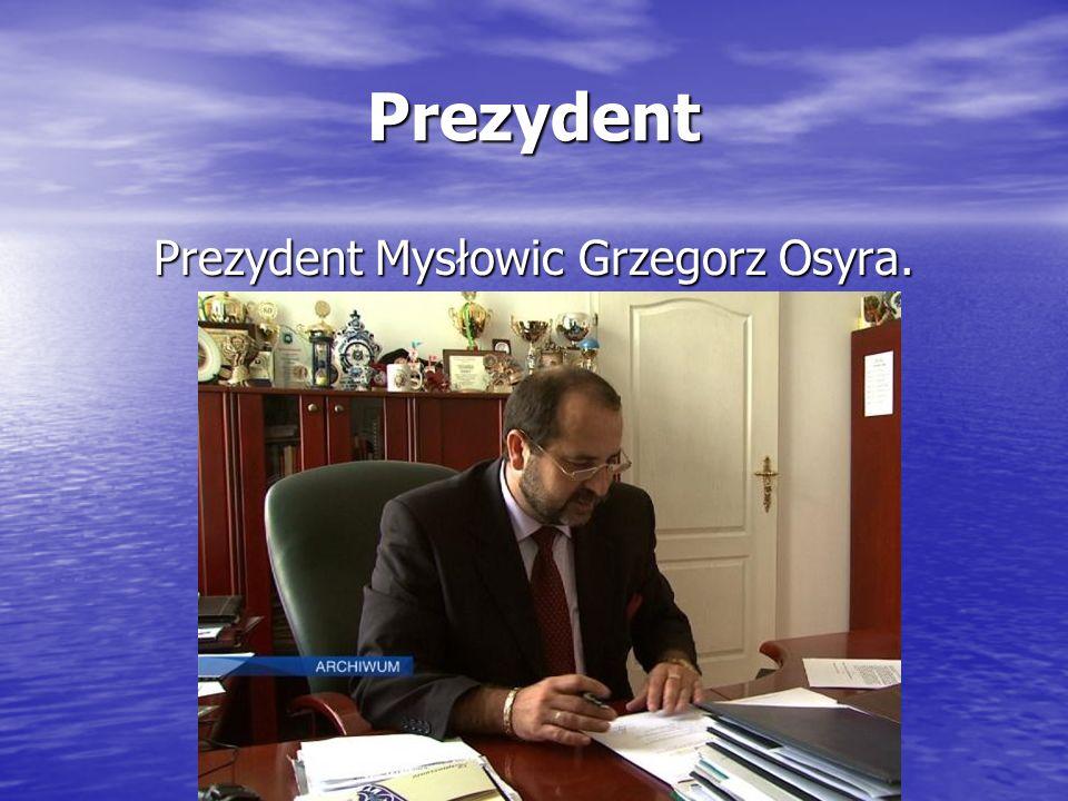 Prezydent Prezydent Mysłowic Grzegorz Osyra.