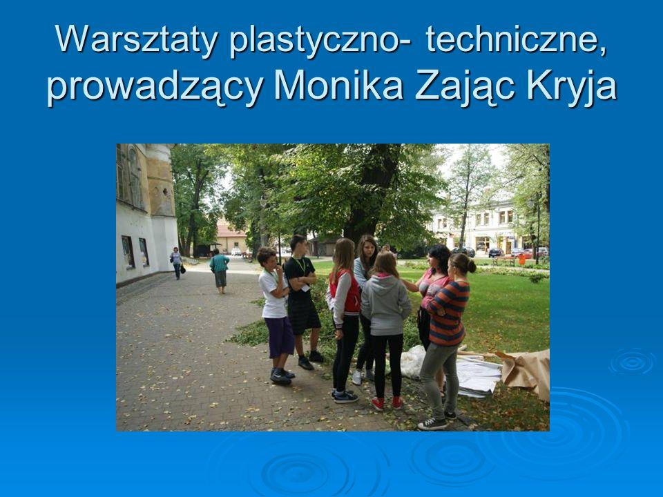 Warsztaty plastyczno- techniczne, prowadzący Monika Zając Kryja