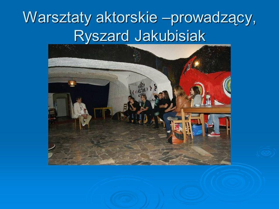 Warsztaty aktorskie –prowadzący, Ryszard Jakubisiak