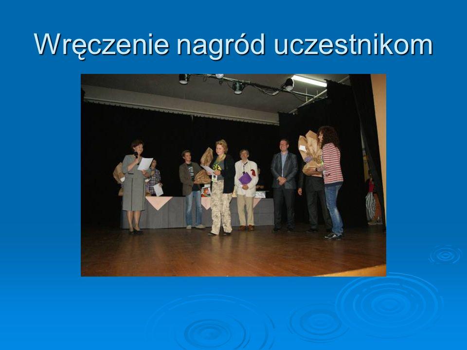 Wręczenie nagród uczestnikom