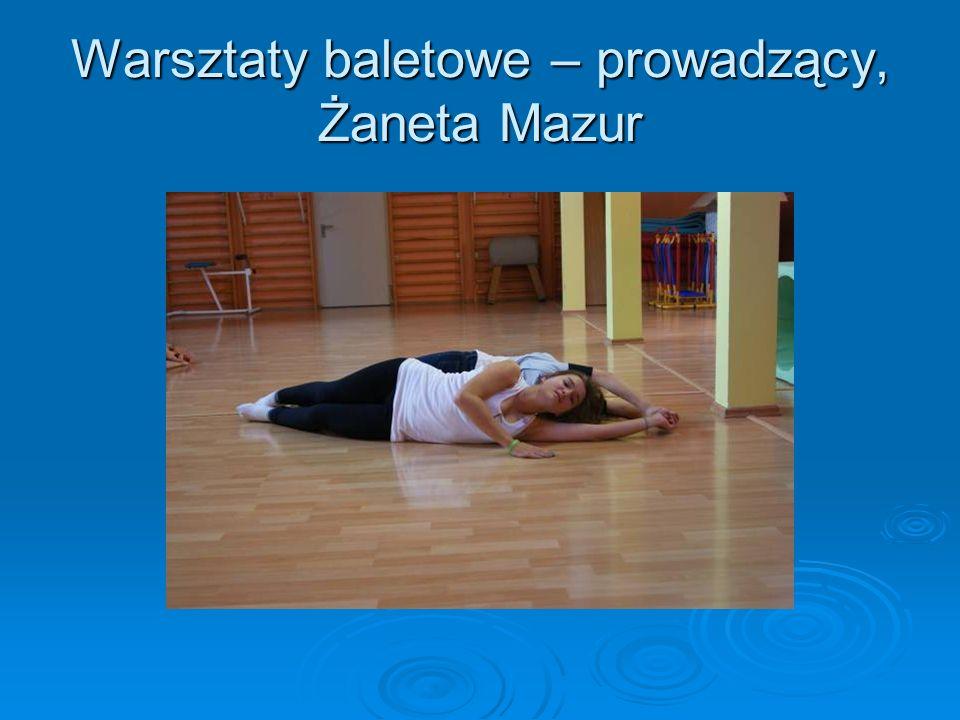 Warsztaty baletowe – prowadzący, Żaneta Mazur