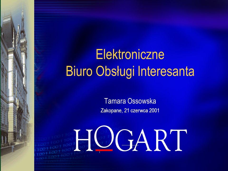 Elektroniczne Biuro Obsługi Interesanta Tamara Ossowska Zakopane, 21 czerwca 2001