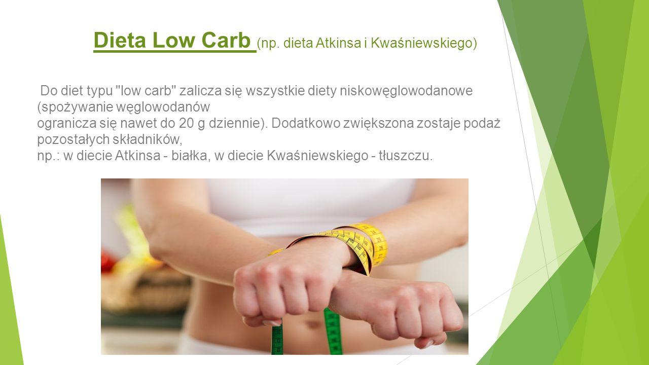 Dieta Low Carb (np. dieta Atkinsa i Kwaśniewskiego) Do diet typu