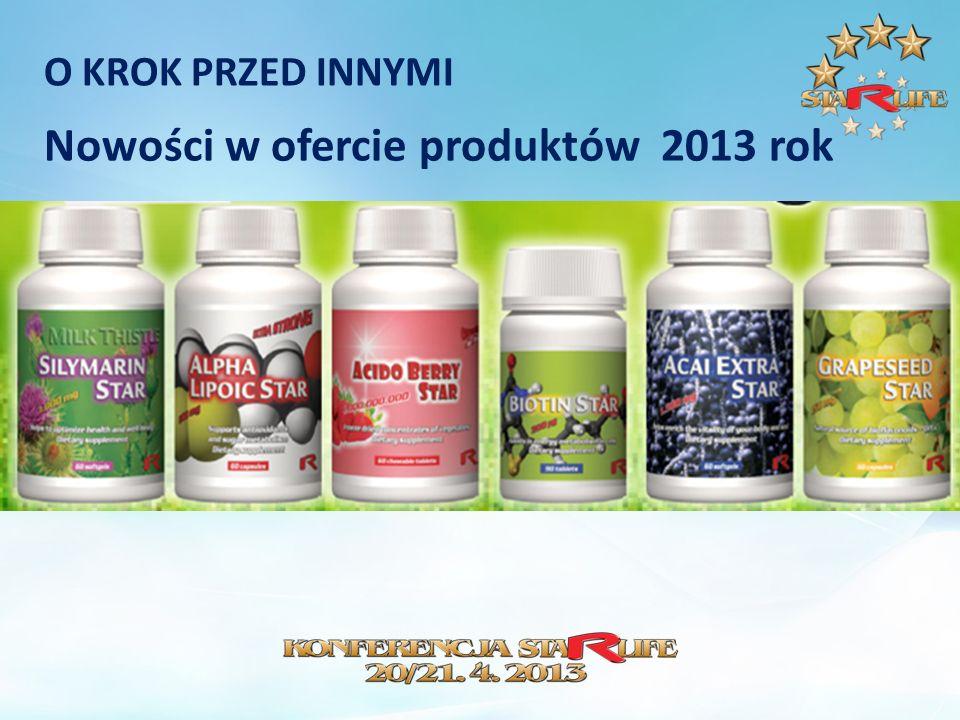 O KROK PRZED INNYMI Nowości w ofercie produktów 2013 rok