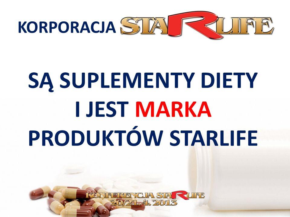 KORPORACJA SĄ SUPLEMENTY DIETY I JEST MARKA PRODUKTÓW STARLIFE